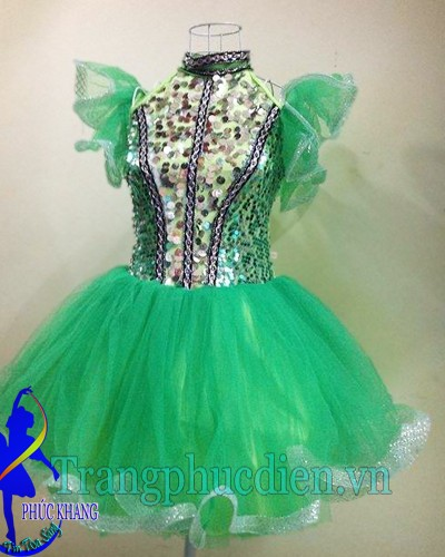 Váy múa xanh lá