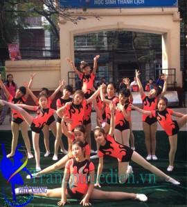 Aerobic trẻ em may tại xưởng Phúc Khang