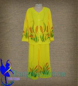 Áo bà ba màu vàng trẻ em may tại xưởng Phúc Khang